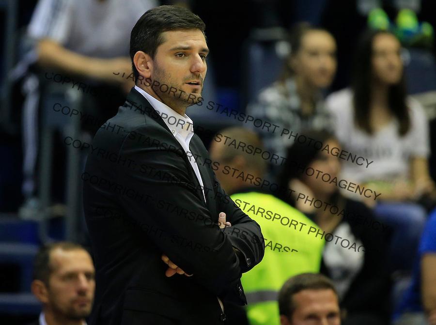 Kosarka ABA League season 2015-2016<br /> Partizan v MZT Skoplje<br /> Head coach Petar Bozic<br /> Beograd, 06.10.2015.<br /> foto: Srdjan Stevanovic/Starsportphoto&copy;