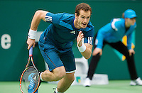 12-02-14, Netherlands,Rotterdam,Ahoy, ABNAMROWTT,Andy Murray(GRB) running towards the net<br /> Photo:Tennisimages/Henk Koster