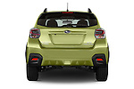 Straight rear view of a 2015 Subaru Xv Hybrid 5 Door SUV stock images