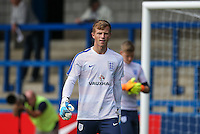 Goalkeeper Aynsley Pears (Middlesbrough) of England U19 during the International match between England U19 and Netherlands U19 at New Bucks Head, Telford, England on 1 September 2016. Photo by Andy Rowland.
