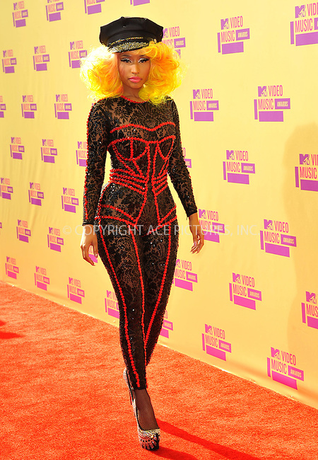 WWW.ACEPIXS.COM....September 6, 2012, Los Angeles, CA.......Nicki Minaj arriving at the 2012 MTV Video Awards at the Staples Center on September 6, 2012 in Los Angeles, California. ..........By Line: Peter West/ACE Pictures....ACE Pictures, Inc..Tel: 646 769 0430..Email: info@acepixs.com