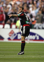 9 April 2005.  DC United's Ben Olsen (14) directs his team at RFK Stadium in Washington, DC.