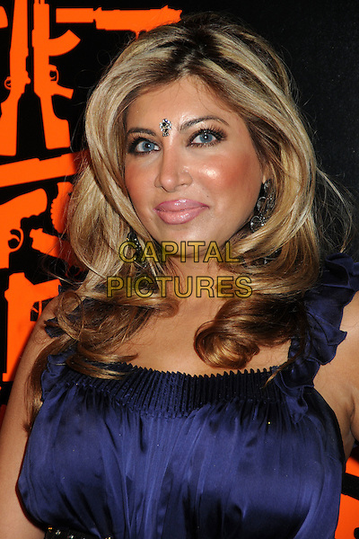 "SHALINI  K. GROVER .""The Mechanic"" Los Angeles Premiere held at Arclight Cinemas, Hollywood, California, USA, 25th January 2011..portrait headshot  blue navy bindi make-up .CAP/ADM/BP.©Byron Purvis/AdMedia/Capital Pictures."