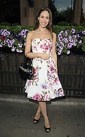 Freya Berry.attended the Kensington Club new boutique nightclub launch party, The Kensington Club, High Street Kensington, London, England,.20th July 2012..full length strapless pink white floral print dress peep toe black shoes bag handbag .CAP/CAN.©Can Nguyen/Capital Pictures.
