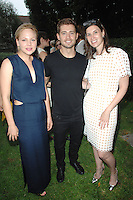 Adelaide Clemens, Julian Morris, Sima Familant==<br /> LAXART 5th Annual Garden Party Presented by Tory Burch==<br /> Private Residence, Beverly Hills, CA==<br /> August 3, 2014==<br /> ©LAXART==<br /> Photo: DAVID CROTTY/Laxart.com==