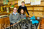 Tarbert Comprehensive school students Ellen Godfrey and Ciara O Donoghue with their teacher Gerard Nash all set for this years Young Scientist exhibition in Dublin.