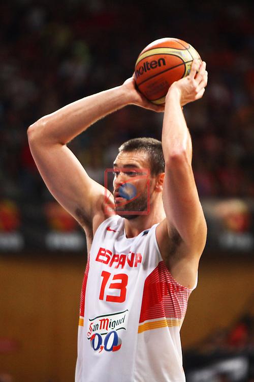 Badalona International Basketball Tournament.<br /> Spain vs Croatia: 82-64.<br /> Marc Gasol.