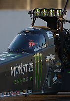 Feb 7, 2020; Pomona, CA, USA; NHRA top fuel driver Brittany Force during qualifying for the Winternationals at Auto Club Raceway at Pomona. Mandatory Credit: Mark J. Rebilas-USA TODAY Sports
