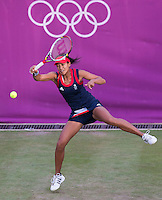 Anne Keothavong..Tennis - OLympic Games -Olympic Tennis -  London 2012 -  Wimbledon - AELTC - The All England Club - London - Monday July 30th  2012. .© AMN Images, 30, Cleveland Street, London, W1T 4JD.Tel - +44 20 7907 6387.mfrey@advantagemedianet.com.www.amnimages.photoshelter.com.www.advantagemedianet.com.www.tennishead.net