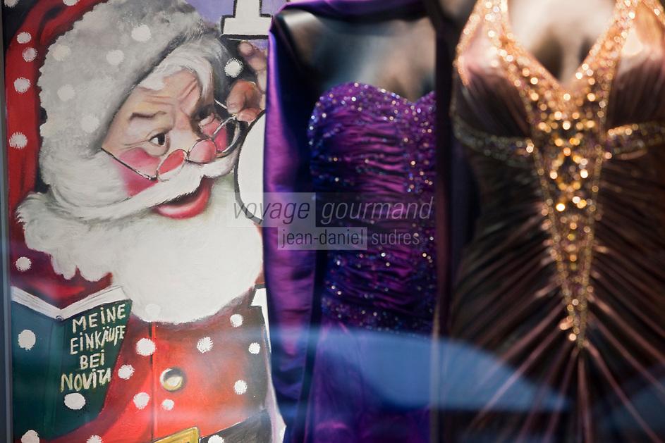 Europe/Autriche/Niederösterreich/Vienne: Détail des vitrines de Noël du centre ville