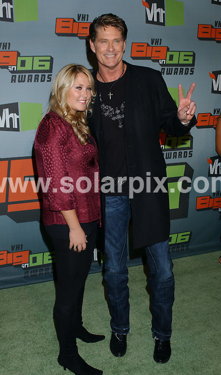 **ALL ROUND PICTURES FROM SOLARPIX.COM**.**WORLDWIDE SYNDICATION RIGHTS** .David Hasselhoff arrives at the VH1 Big in 2006 Awards in Culver City, California. at Sony Studios on Dec 2, 2006.  .REF: 3131 GLS.**MUST CREDIT SOLARPIX.COM OR DOUBLE FEE WILL BE CHARGED**