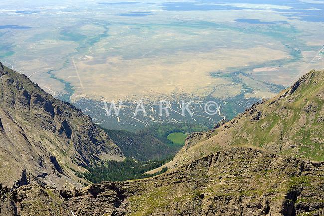 Aerial of Crestone, Colorado looking west.  July 13, 2013.  89865