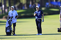 Tom Lewis (ENG) prepares to play his 2nd shot on the 17th hole during Friday's Round 2 of the 2018 Turkish Airlines Open hosted by Regnum Carya Golf &amp; Spa Resort, Antalya, Turkey. 2nd November 2018.<br /> Picture: Eoin Clarke | Golffile<br /> <br /> <br /> All photos usage must carry mandatory copyright credit (&copy; Golffile | Eoin Clarke)