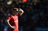 Max Malins of Saracens looks on in the sun. Premiership Rugby Cup Final, between Northampton Saints and Saracens on March 17, 2019 at Franklin's Gardens in Northampton, England. Photo by: Patrick Khachfe / JMP