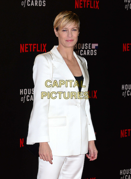 LONDON, UK: FEB 26: Robin Wright at the House Of Cards premiere of third series of Netflix's critically-acclaimed political drama based on the British book and 1990s TV series. London, England, February 26th, 2015.<br />  CAP/JOR<br /> &copy;Nils Jorgensen/Capital Pictures