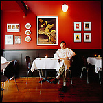 "Brasserie ""l'école"" is the small French bistro owned and operated by Sommelier Marc Morrison and Chef Sean Brennan (who is pictured here in the restaurant)..The restaurant opened December 14th, 2001 and has won numerous awards and accolades since such as Best Restaurant in Victoria"