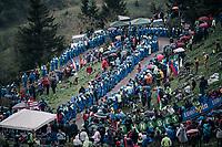 coming up the infamous Monte Zoncolan (1735m/11%/10km)<br /> <br /> stage 14 San Vito al Tagliamento &ndash; Monte Zoncolan (186 km)<br /> 101th Giro d'Italia 2018