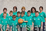 Having fun at the Gneeveguilla basketball blitz in aid of Special Olympics Ireland in Rathmore on Saturday was front row l-r:  Donal Hurley, Paul Brosnan, Charlie Collins, Cathal McCarthy, Jack Collins, Shane Sullivan, Padraig Dillane. Back row: Margaret Dillane, Noreen O'Connor, Nora Brosnan, Siobhain Collins and Kathleen Brosnan