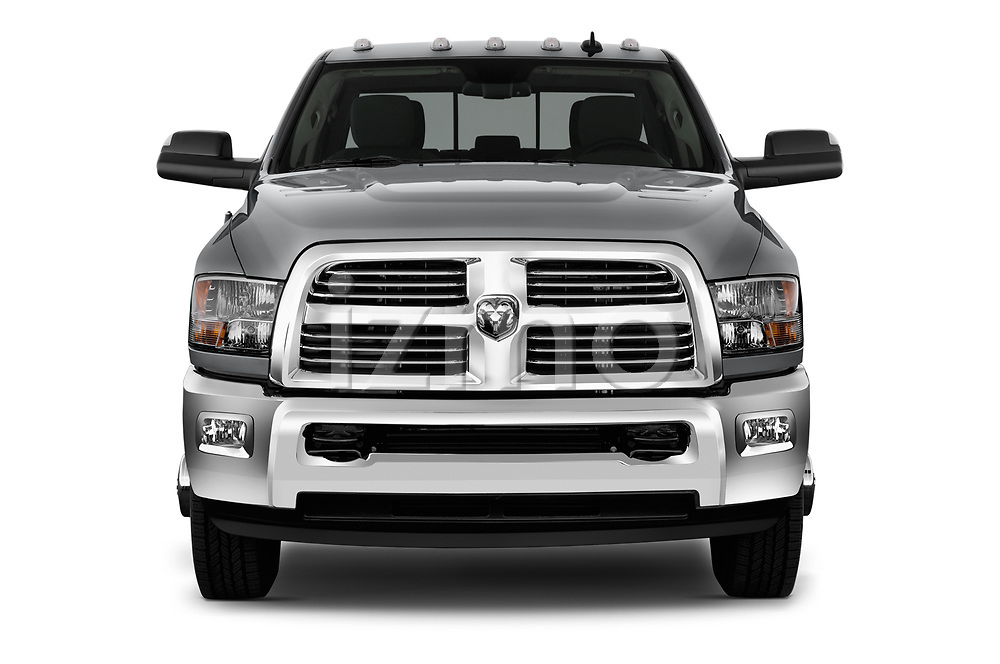 Car photography straight front view of a 2017 Ram 3500 Big Horn 4 Door Pick Up