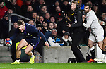 16.03.2019 Guinness Six Nations International Rugby England Vs Scotland at RFU Twickenham Stadium UK<br /> Darcy Graham scores a try for Scotland The match was tied 38-38