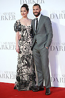 "Dakota Johnson and Jamie Dornan<br /> at the ""Fifty Shades Darker"" premiere, Odeon Leicester Square, London.<br /> <br /> <br /> ©Ash Knotek  D3223  09/02/2017"