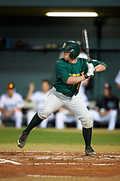 Siena Saints second baseman Jordan Bishop (4) at bat during a game against the Stetson Hatters on February 23, 2016 at Melching Field at Conrad Park in DeLand, Florida.  Stetson defeated Siena 5-3.  (Mike Janes/Four Seam Images)