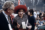Activist Bella Abzug attends one of Watergate's scandale meetings. A break in at the Democratic National Committee headquarters at the Watergate complex on June 17, 1972 results in one of the biggest political scandals the US government has ever seen. Effects of the scandal ultimately led to the resignation of President Richard Nixon, on August 9, 1974, the first and only resignation of any U.S. President.