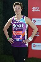 Hannah MacLeod<br /> at the start of the 2018 London Marathon, Greenwich, London<br /> <br /> ©Ash Knotek  D3397  22/04/2018