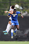 04 September 2011: UCSB's David Opoku (GHA) (18) and NCSU's Simon Cox (ENG) (behind). The University of California Santa Barbara Broncos defeated the North Carolina State University Wolfpack 1-0 at Koskinen Stadium in Durham, North Carolina in an NCAA Division I Men's Soccer game.