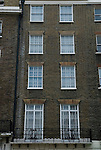 The Royal Borough of Kensington and Chelsea. Security bars on town house. Wilton Terrace. London SW1 England. 2006