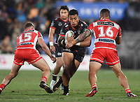 Albert Vete.<br /> NRL Premiership rugby league. Vodafone Warriors v St George Illawarra. Mt Smart Stadium, Auckland, New Zealand. Friday 20 April 2018. &copy; Copyright photo: Andrew Cornaga / www.Photosport.nz