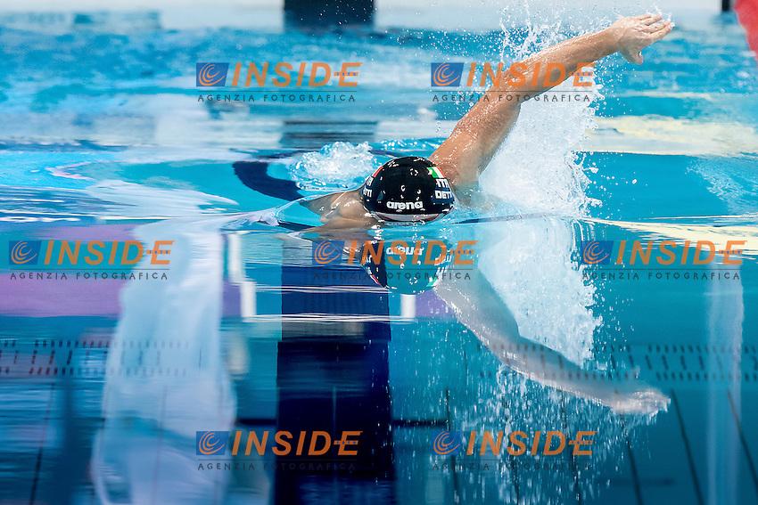 DETTI Gabriele ITA gold medal<br /> 400 freestyle men<br /> London, Queen Elizabeth II Olympic Park Pool <br /> LEN 2016 European Aquatics Elite Championships <br /> Swimming day 01 finals<br /> Day 08 15-05-2016<br /> Photo Giorgio Scala/Deepbluemedia/Insidefoto