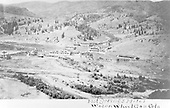 Elevated panoramic view of Hot Springs Hotel and vicinity at Wagon Wheel Gap, CO.<br /> Wagon Wheel Gap, CO