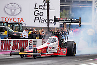 Oct 28, 2016; Las Vegas, NV, USA; NHRA top fuel driver Shawn Langdon during qualifying for the Toyota Nationals at The Strip at Las Vegas Motor Speedway. Mandatory Credit: Mark J. Rebilas-USA TODAY Sports