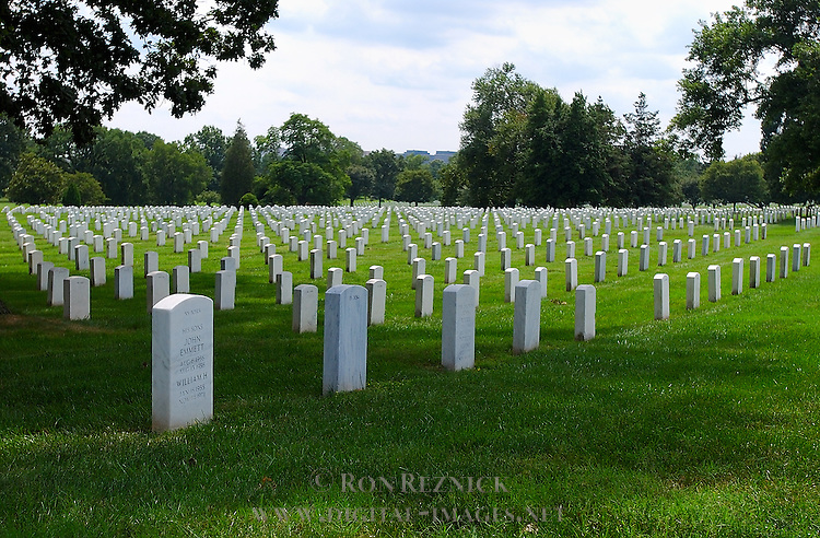 Tombstones, Arlington National Cemetery, Arlington, Virginia