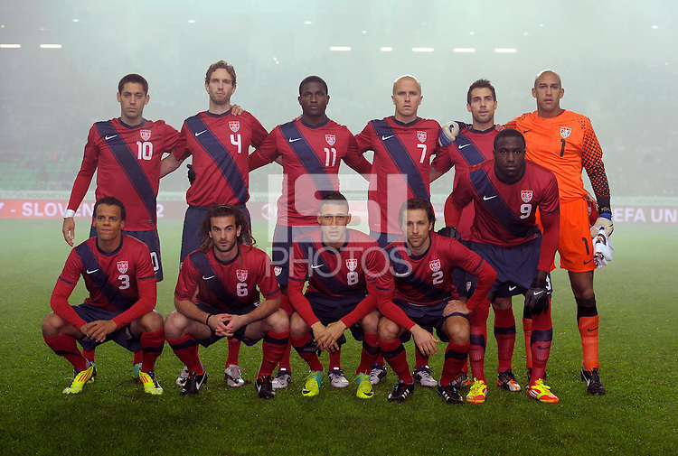 Team-Photo USA, before the friendly match Slovenia against USA at the Stozice Stadium in Ljubljana, Slovenia on November 15th, 2011.