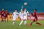 Qatar vs Uzbekistan during the AFC U23 Championship China 2018 Group A match at Changzhou Olympic Sports Center on 09 January 2018, in Changzhou, China. Photo by Marcio Rodrigo Machado / Power Sport Images
