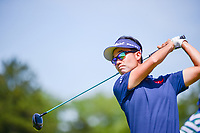 Kevin Na (USA) watches his tee shot on 12 during Thursday's round 1 of the 117th U.S. Open, at Erin Hills, Erin, Wisconsin. 6/15/2017.<br /> Picture: Golffile | Ken Murray<br /> <br /> <br /> All photo usage must carry mandatory copyright credit (&copy; Golffile | Ken Murray)