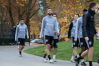 TUKWILA, WA - NOVEMBER 08: Jonathan Campbell #3 of the Seattle Sounders FC walks to training at Starfire Sports Complex on November 08, 2019 in Tukwila, Washington.