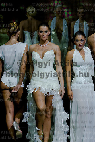 Miss Plastic Hungary 2009 beauty contest for beauties with surgically enhanced bodies, Budapest, Hungary. Saturday, 10. October 2009. ATTILA VOLGYI