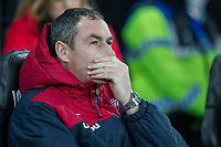 Swansea City head coach Paul Clement ahead of the EPL - Premier League match between Swansea City and Manchester City at the Liberty Stadium, Swansea, Wales on 13 December 2017. Photo by Mark  Hawkins / PRiME Media Images.