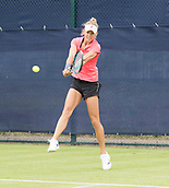 June 10th 2017,  Nottingham, England; WTA Aegon Nottingham Open Tennis Tournament day 1; Alexa Glatch of USA in her match against Jana Fett of Croatia