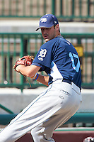 West Michigan Whitecaps pitcher Jeff Ferrell #17 during practice before a Midwest League game against the South Bend Silver Hawks at Coveleski Stadium on August 15, 2012 in South Bend, Indiana.  West Michigan defeated South bend 7-1.  (Mike Janes/Four Seam Images)