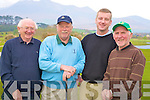 Pictured at the Irish Motor Neuron Golf Classic in Beaufort Golf Club on Friday were Aidan McGaley, John Pender, James O'Grady and Donal O'Connor.........