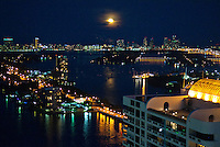 Moon over South Beach, Miami Beach, Florida, USA, July 15, 2011. Photo by Debi Pittman Wilkey