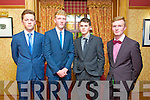 Jack Herlihy, Shay McKenna, Kean Moore and Cathal Curran at the Gaelscoil Chiarrai Fashion Show at the Meadowlands on Thursday
