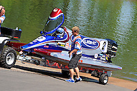 3-4 May 2008, Pickwick,TN USA.Todd Beckman launches his Seebold/Mercury..©2008 F.Peirce Williams