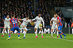 John Egan of Sheffield Utd volleys in a shot on goal during the Premier League match at Selhurst Park, London. Picture date: 1st February 2020. Picture credit should read: Paul Terry/Sportimage