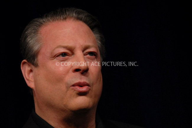 """WWW.ACEPIXS.COM............April 25 2007, New York City....Al Gore attends a press conference to announce the """"SOS"""" Short Films Program at the 2007 Tribeca Film Festival.......Byline:  KRISTIN CALLAHAN - ACEPIXS.COM....For information please contact:....Philip Vaughan, 212 243 8787 or 646 769 0430..Email: info@acepixs.com..Web: WWW.ACEPIXS.COM"""