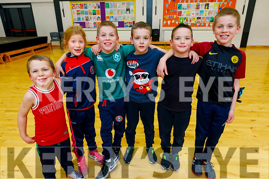 Enjoying the St Pat's Christmas GAA Juvenile party in the school hall on Friday.<br /> L to r: Aaron, Grace and Hugh Costello, Jake and Rylan Flynn and Tommy Costello.